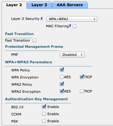 WPA/TKIP only going away in Cisco WLC release 8.0 | SC-WiFi